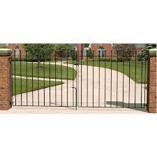 ball top driveway metal garden gates