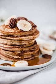 healthy banana oatmeal pancakes made