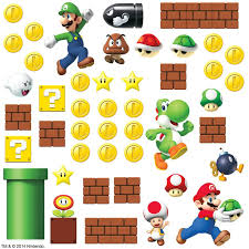 Room Mates Nintendo 45 Piece Super Mario Wall Decal Reviews Wayfair