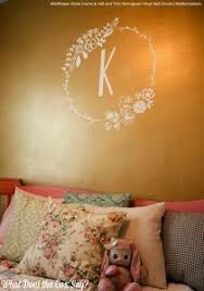 Stick On Monogram Letter Saying Quote Initial Name Vinyl Wall Decal Wallternatives