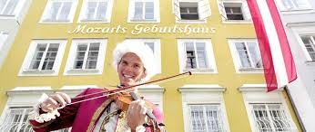 the birthplace of mozart in salzburg city