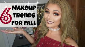 6 makeup trends for autumn fall 2016