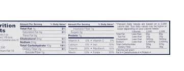 barilla pasta nutrition label