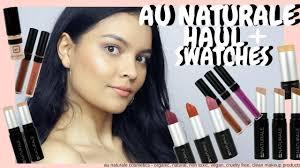 au naturale cosmetics haul review