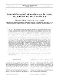 pdf seasonal chlorophyll a flu