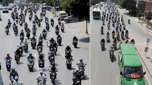 Altın elbiseli adam' Barkın Bayoğlu'na veda! Yüzlerce motosikletçi ...