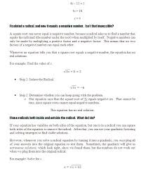 solving radical equations academic