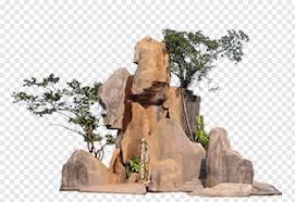 rock formations near trees rock garden
