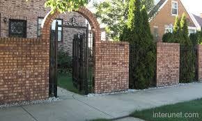 Brick Fence Iron Picture Interunet Fence Design Iron Fence Brick Fence