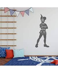 Phenomenal Deals On Wall Decal Silhouette Oh The Cleverness Of Me Peter Pan Kids Room Or Playroom