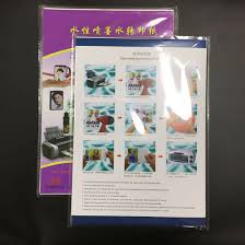 China White Color Transfer Paper A4 Waterslide Decal Paper For Inkjet Printer China Inkjet Tranfer Paper Decal Transfer Paper