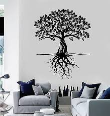 Vinyl Wall Decal Tree Roots Leaves Home Art Decor Stickers Murals Vs4763 Amazon Com