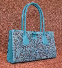 juan antonio tooled turquoise leather