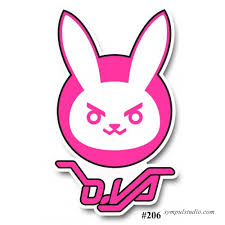 Bunny D Va Overwatch Die Cut Vinyl Decal Sticker Japan Anime Manga Macbook Decor 391959598029