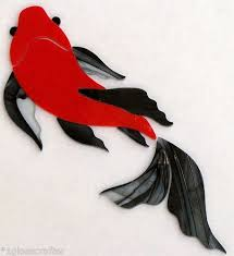 erfly koi fish stained glass inlay