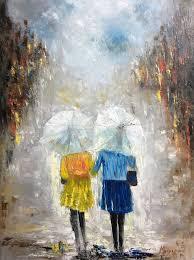 happy rainy day painting by miroslava