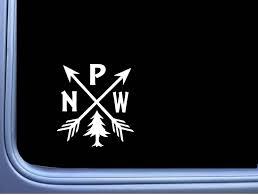 Amazon Com Ez Stik Pacific Northwest Pnw Hiking Vinyl M114 6 Inch Sticker Decal Camping Arrows Automotive
