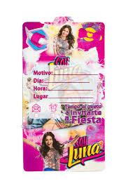 Tarjetas De Invitacion Soy Luna Mister Pinatas