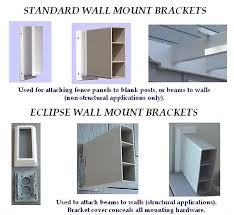 Vinyl Fences Wall Mount Brackets Dover Nh