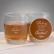 personalized whisky glasses set