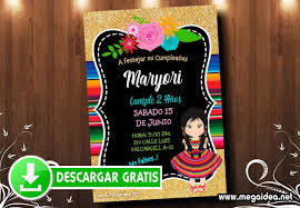 Invitacion Fiesta Mexicana Editable Gratis Mega Idea