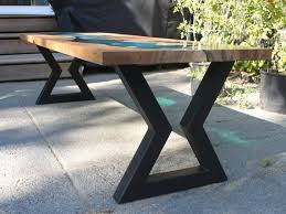 hourglass metal table legs dining table