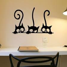 Lovely 4 Black Cute Cats Wall Sticker Modern Cat Wall Stickers Girls Vinyl Decor For Sale Online Ebay
