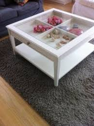 coffee table with glass we could fill