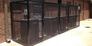 Outdoor Unit Protection Cages Fences From Camera Security Now