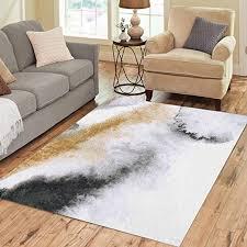 pinbeam area rug black watercolor gold