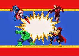 Avengers Free Printable Kit Invitacion Cumpleanos Nino