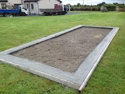concrete base shanette sheds garden
