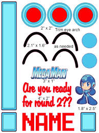 Mega Man Cranial Band Decoration From High Quality Vinyl For Baby Helmets