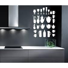 Shop Kitchen A Restaurant Coffee Bar Dishes Wall Art Sticker Decal White Overstock 11822153