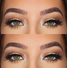 makeup for black dress and brown eyes