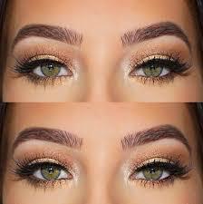 wedding makeup for green eyes cat eye