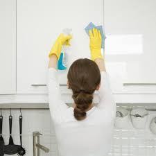 how to clean kitchen cabinet doors