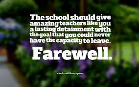 farewell to teacher quotes images com