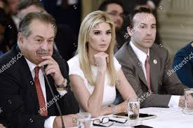 Ivanka Trump flanked by Andrew Liveris ...