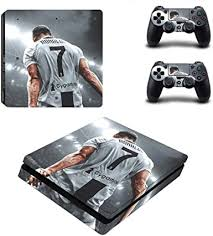 Amazon Com Homie Store Ps4 Pro Skin Ps4 Skins Ps4 Slim Sticker Football Cristiano Ronaldo Cr7 Ps4 Slim Skin Sticker Decal For Playstation 4 Console And Controller Ps4 Slim