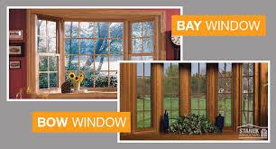 bay windows vs bow windows two kinds