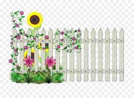 Flowers Clipart Background Clipart Fence Garden Flower Transparent Clip Art