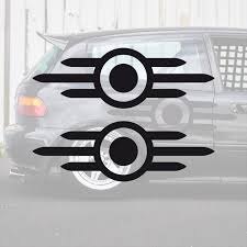 2x Tested And Approved Vault Tec Logo Fallout Game Pip Boy Vinyl Sticker Decal Motors Car Truck Decals Emblems License Frames Car Truck Decals Stickers