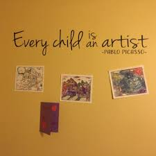 Every Child Is An Artist Pablo Picasso Vinyl Wall Decal Kids Playroom