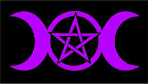 Triple Moon Goddess Decal With Pentacle Wicca Pagan Vinyl Etsy