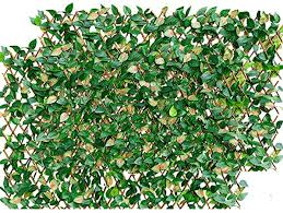 Amazon Com Melchef Expandable Fence Privacy Screen For Balcony Patio Outdoor Decorative Nature Willow Fence And Artificial Ivy Privacy Fence Screen Panel Artificial Hedges Stretchable Privacy Fence Screen Garden Outdoor