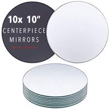round centerpiece mirror