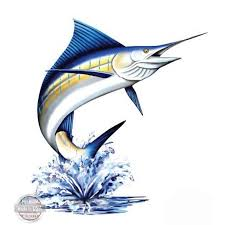 Marlin Large Size Vinyl Sticker Decal For Truck Car Cornhole Board Sticker 16 Walmart Com Walmart Com
