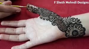 mehndi design simple hand
