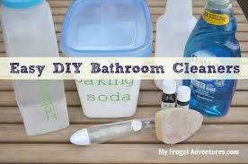 homemade bathroom cleaners my frugal